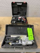 Lot of (2) Craftsman 14v battery powered cordless drill and die grinder
