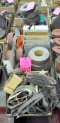 Lot-Various Sanding Belts, Sanding Paper and Sanding Disks in (3) Boxes