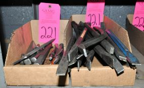 Lot-Chisels and Punches in (2) Boxes