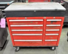 Lot-(1) 10-Drawer, (1) Waterloo 3-Piece Rolling Tool Chest, with (1) Proto Rolling and (1) Craftsman