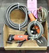 Lot-(2) Pneumatic Angle Die Grinders and (1) Pneumatic Straight Sandpaper Sander in (1) Box