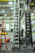 Lot-(1) 16', (1) 14', (1) 12', (1) 10' and (1) 6' Aluminum Single Stage Ladders, and (1) 14'\