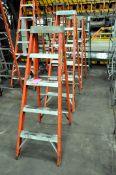 Lot-(3) 6' and (1) 5' Fiberglass Step Ladders