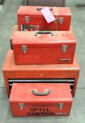 Lot-(5) Asst'd Red Tool Boxes
