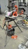 Ridgid Model 300-T2, Pipe Threader Machine, S/n ED13871, with Thread Dies, Pipe Cutter, De-Bur and