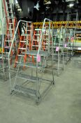 """Lot-(4) 24"""" Wide x 40"""" High Portable Steps"""