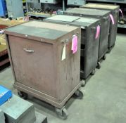 Lot-(3) Kennedy Rolling Tool Chests and (1) Rolling Cabinet