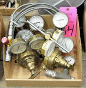 Lot-Asst'd Oxygen/Acetylene Gauges in (1) Box