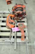 Lot-(1) Ridgid Die Head, (2) Cutters and (1) Pipe Vise