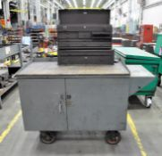 Portable Maintenance Cabinet with Kennedy 2-Piece Machinist Tool Box