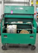 Greenlee 3660/23196 Slant Top Gang Box with Ropes, Pulleys, Stock Rollers, etc. Contents