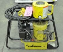 Enerpac Hydraulic Power System with (1) Cylinder and Hoses
