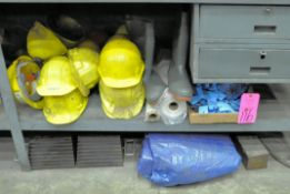 Lot-Sweat Bands, Tarps, Wheel Chocks, Boots, Hard Hats, Face Shields, Gloves, Safety Glasses,