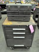 Lot-(3) Kennedy Rolling Tool Chests and (3) Top Tool Boxes