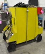 Lot-Portable Maintenance Cabinet with Cloth Slings, Chains, Eye Bolts, etc. Contents
