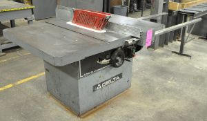 """Delta 16"""" Table Saw, S/n 97A99210 (New 1997), with Blade Guard, (Pattern Shop), (Pink Tag)"""