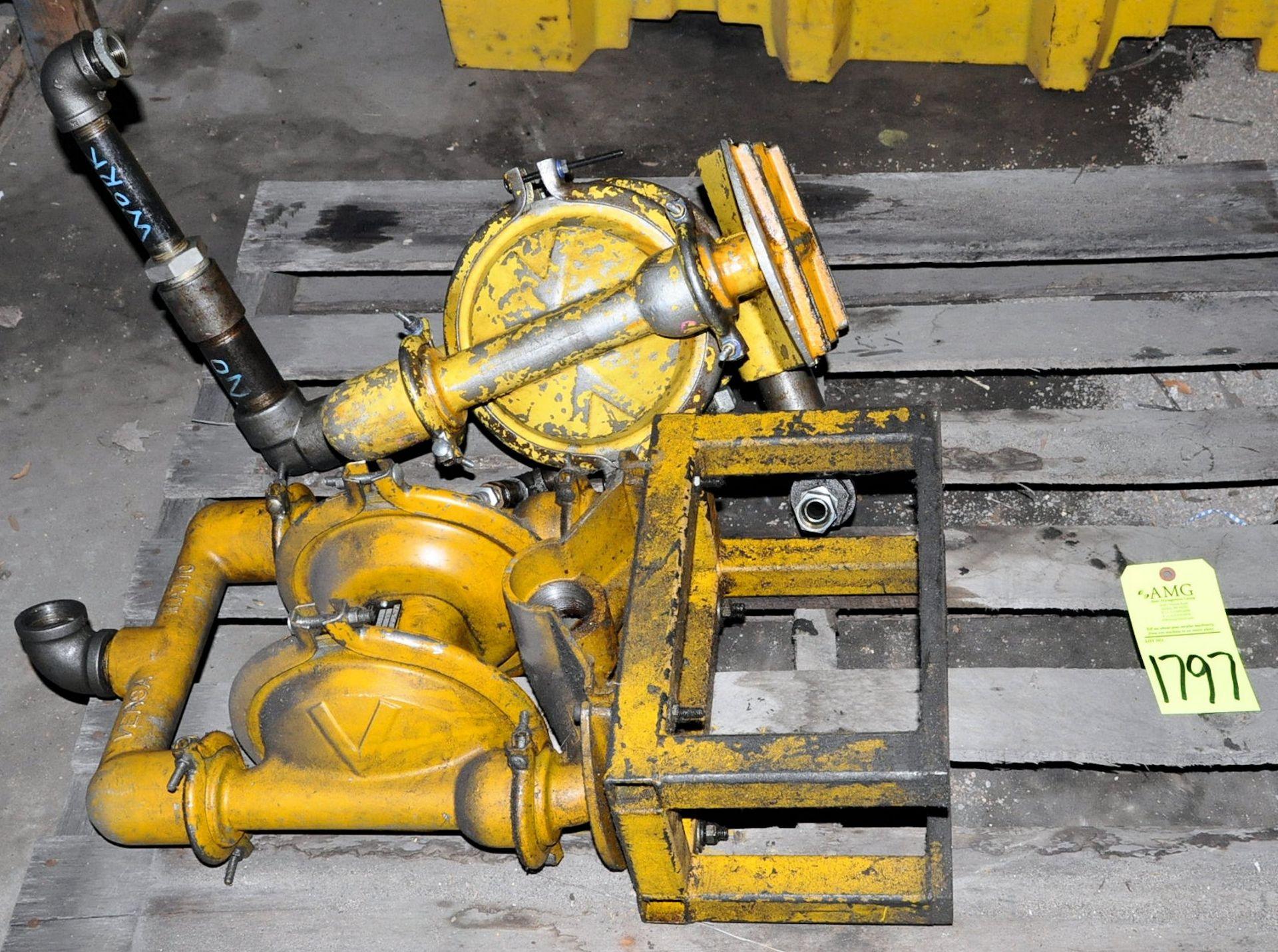 Lot-(3) Versamatic Pneumatic Fluids Pumps, (Oils Storage Building), (Yellow Tag) - Image 2 of 2