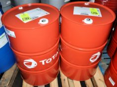 Lot-(2) 55-Gallon Drums of Total; Cirkan RO 32 R 3 O Circulating Oil on (1) Pallet, (Oils Storage