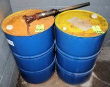 Lot-(2) 55-Gallon Drums of Eastern POP 1600 Paraffinic Process Oil, (Oils Storage Building), (Yellow