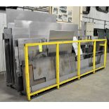 Lot-Misc. Sheet Metal Stock Cutoffs with Rack, (Laser Building), (Yellow Tag)