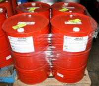 Lot-(4) 55-Gallon Drums of Total Azolla ZS 46 Multipurpose AW Hydraulic Oil on (1) Pallet, (Oils