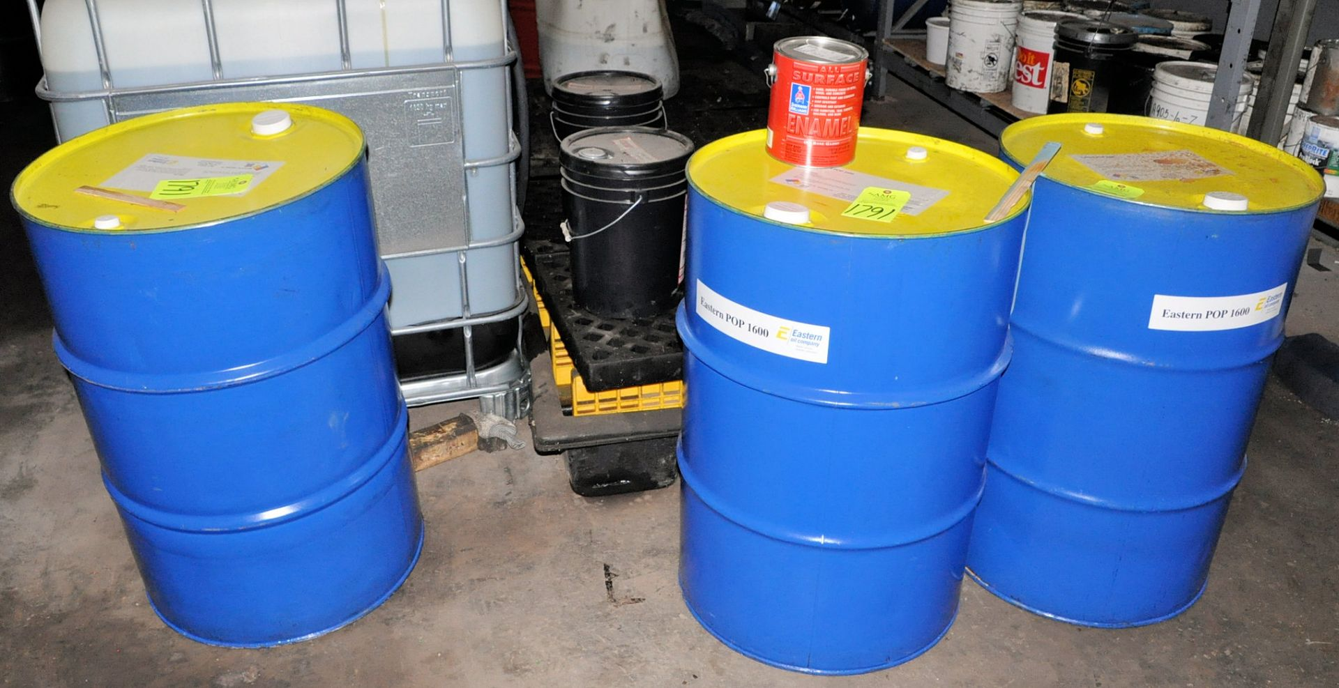 Lot-(3) 55-Gallon Drums of Eastern POP 1600 Paraffinic Process Oil, (Oils Storage Building), (Yellow