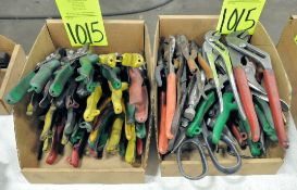 Lot-Pliers and Snips in (2) Boxes, (E-7), (Yellow Tag)