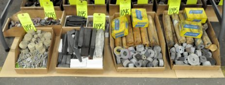 Lot-Die Grinding Stones and Blocks in (6) Boxes on Floor Under (1) Table, (E-7), (Yellow Tag)