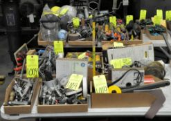 Lot-Asst'd General Hand Tools, Blow Off Tools, Flashlights, etc. in (8) Boxes, (E-7), (Yellow Tag)