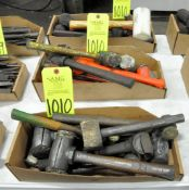 Lot-Dead Blow, Rubber Mallets and Brass Hammers in (3) Boxes, (E-7), (Yellow Tag)