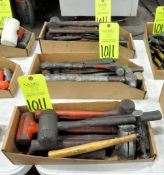 Lot-Rubber Mallets, Ball Peens and Slag Hammers in (3) Boxes, (E-7), (Yellow Tag)