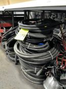 Lot-Air Hoses on Floor Under (1) Table, (E-7), (Yellow Tag)