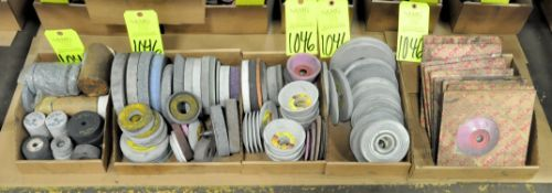 Lot-Used and Packaged Grinding Wheels in (5) Boxes on Floor Under (1) Table, (E-7), (Yellow Tag)