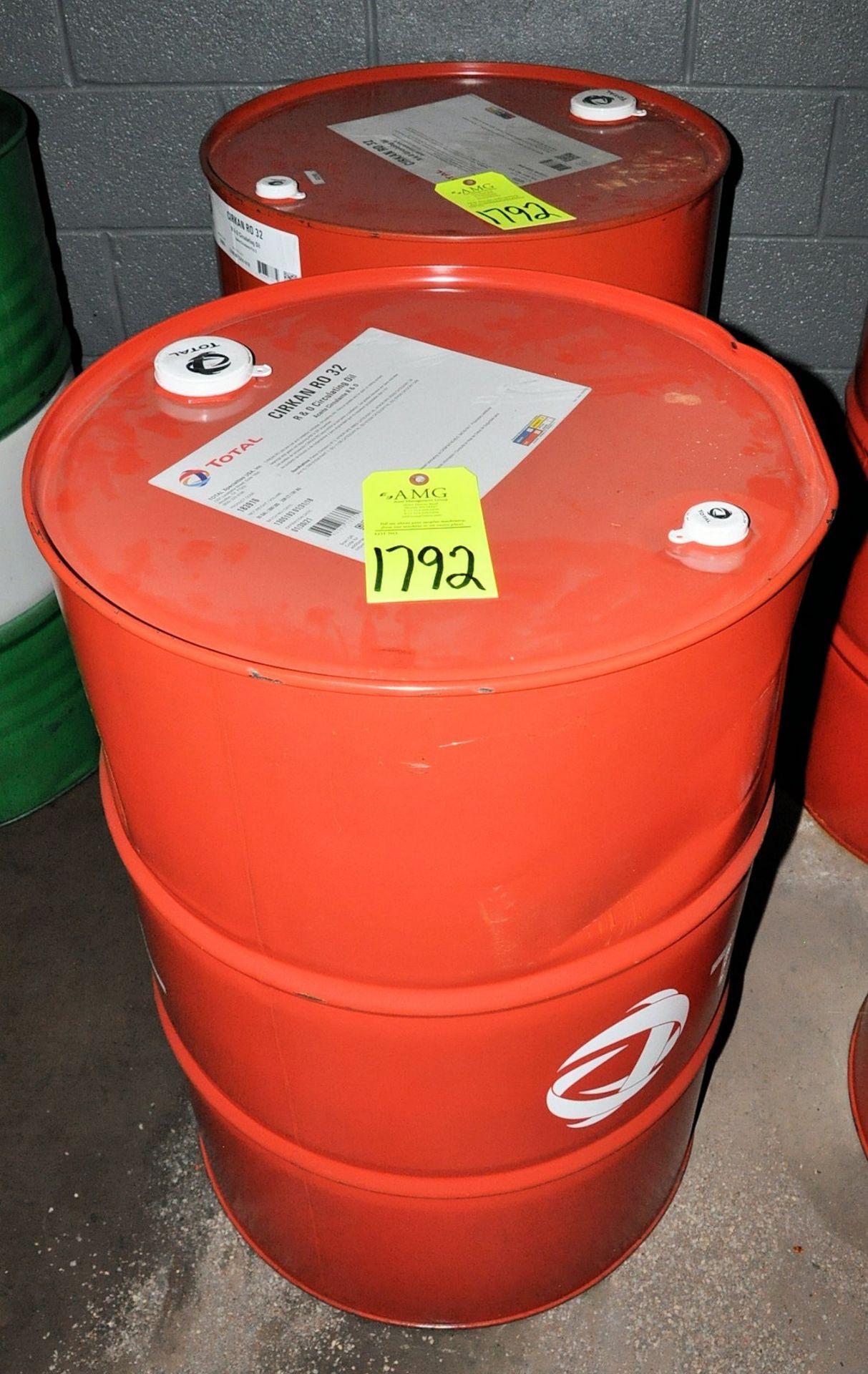 Lot-(2) 55-Gallon Drums of Total Cirkan RO 32 R & O Circulating Oil, (Oils Storage Building), ( - Image 2 of 2
