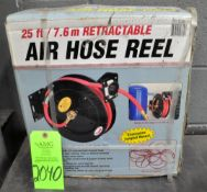 Lot-(1) Retractable Air Hose Reel New in Box with (2) Post Mounted Retractable Air Hose Reels, (G-20