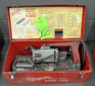 Milwaukee Electric Hand Held Portable Band Saw with Case, (G-19), (Green Tag)