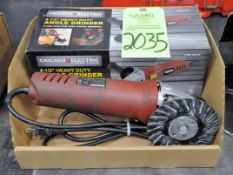 """Chicago Electric 4 1/2"""" Electric Angle Grinder in (1) Box, (G-19), (Green Tag)Chicago Electric Angle"""