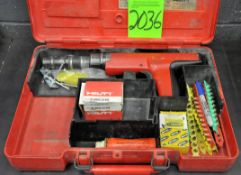 Hilti Shot Load Fastener Gun with Supply and Case, (G-19), (Green Tag)
