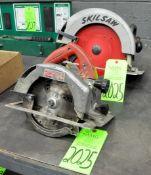 "Lot-(1) Milwaukee 7 1/4"" and (1) Skilsaw 10"" Electric Circular Saws, (G-19), (Green Tag)"