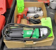 """Lot-(1) Milwaukee 3/8"""" Electric Drill and (1) Hitachi 3/8"""" Electric Angle Drill in (2) Boxes, (G-19)"""