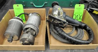 Lot-(1) Bosch Pneumatic Scroll Saw and (2) Stanley Routers in (2) Boxes, (G-19), (Green Tag)