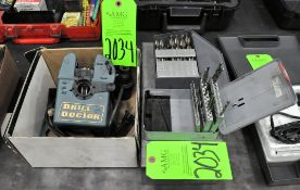 Lot-(3) Various Drill Indexes with Contents, with Drill Doctor in (1) Box, (G-19), (Green Tag)