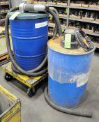 Lot-(1) Pneumatic and (1) Electric Barrel Vac's, (F-17), (Green Tag)