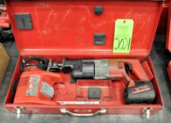 Milwaukee 18-Volt Cordless Reciprocating Saw with (1) Battery and (1) Charger, Case, (G-19), (Green