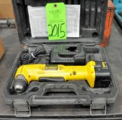 """DeWalt DW965, 12-Volt 3/8"""" Cordless Angle Drill with (1) Battery, (1) Charger, and Case, (G-19), (Gr"""