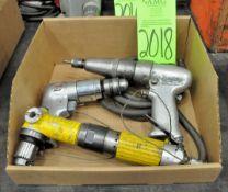 Lot-(2) Pneumatic Drills and (1) Pneumatic Driver Gun in (1) Box, (G-19), (Green Tag)