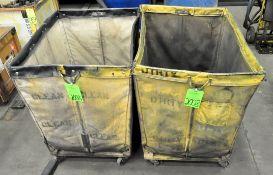 (2) Portable Hamper Carts, (F-17), (Green Tag)