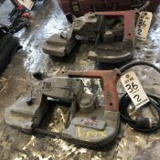 LOT: (2) Milwakee Heavy Duty Band Saws