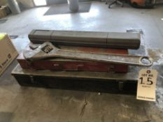 LOT: Misc Shockets Sets, Torque Wrench, Large Cressent Wrench