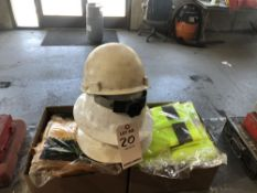 LOT: Hard Hats, Saftey Vests, Rain Gear